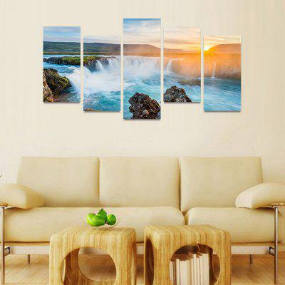 MailingArt FIV189  5 Panels Landscape Wall Art Painting Home Decor Canvas PrintPrints<br>MailingArt FIV189  5 Panels Landscape Wall Art Painting Home Decor Canvas Print<br><br>Craft: Print<br>Form: Five Panels<br>Material: Canvas<br>Package Contents: 5 x Print<br>Package size (L x W x H): 82.00 x 32.00 x 12.00 cm / 32.28 x 12.6 x 4.72 inches<br>Package weight: 1.8000 kg<br>Painting: Include Inner Frame<br>Shape: Horizontal Panoramic<br>Style: Natural<br>Subjects: Landscape<br>Suitable Space: Boys Room,Cafes,Corridor,Dining Room,Girls Room,Hotel,Kids Room,Kitchen,Living Room,Office,Study Room / Office