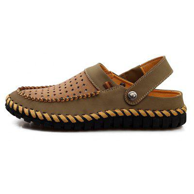 ZEACAVA Fashion Genuine Leather Men Casual SlippersMens Slippers<br>ZEACAVA Fashion Genuine Leather Men Casual Slippers<br><br>Available Size: 39-44<br>Closure Type: Slip-On<br>Embellishment: Hollow Out<br>Gender: For Men<br>Heel Hight: 2-4cm<br>Occasion: Casual<br>Outsole Material: Rubber<br>Package Contents: 1xShoes(pair)<br>Pattern Type: Solid<br>Sandals Style: Gladiator<br>Style: Rome<br>Upper Material: Full Grain Leather<br>Weight: 1.2000kg