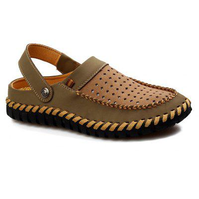ZEACAVA Fashion Genuine Leather Men Casual Slippers