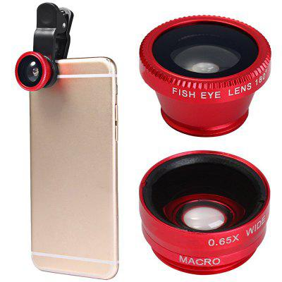Minismile 3-in-1 Fisheye and Wide Angle and Macro Phone Camera Lens Kit for iPhone X / 8 Plus / 8 / 7 Plus / 7