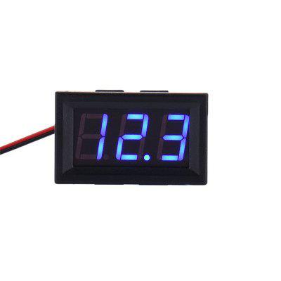 New Mini DC 2.5-30V LED Panel 3-Digital Display Two Wires Voltage Voltmeter