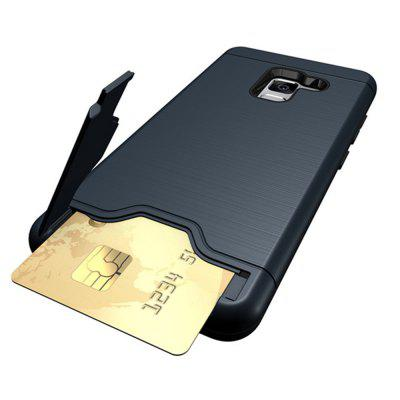 Cover Case for Samsung Galaxy S9  Hybrid Armor Soft  TPU and PC Rubber Card Slot Kickstand BackSamsung S Series<br>Cover Case for Samsung Galaxy S9  Hybrid Armor Soft  TPU and PC Rubber Card Slot Kickstand Back<br><br>Features: Back Cover, Cases with Stand, With Credit Card Holder, Button Protector, Anti-knock, Dirt-resistant<br>Material: TPU, PC<br>Package Contents: 1 x Phone Case<br>Package size (L x W x H): 20.00 x 10.00 x 1.50 cm / 7.87 x 3.94 x 0.59 inches<br>Package weight: 0.0550 kg<br>Product size (L x W x H): 14.76 x 6.87 x 0.84 cm / 5.81 x 2.7 x 0.33 inches<br>Product weight: 0.0500 kg<br>Style: Solid Color, Cool, Fashion