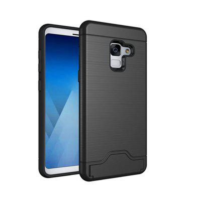 Cover Case for Samsung Galaxy S9  Hybrid Armor Soft  TPU and PC Rubber Card Slot Kickstand Back