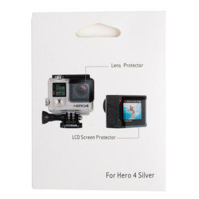 Camera Lens Protective Film and LCD Dispaly Screen Protector for Gopro Hero 3+/4