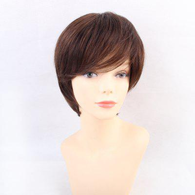Wigs for Women Refreshing Natural Brown Short Human Hair Wigs