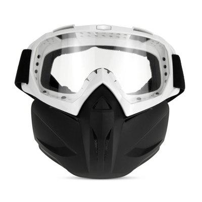 QF007 Motorcycle Bike Windproof Dustproof Helmet Goggles with Removable Mask
