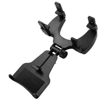 Car Rear View Mirror Bracket Mount Holder for 4-6.3 Inch Smartphone