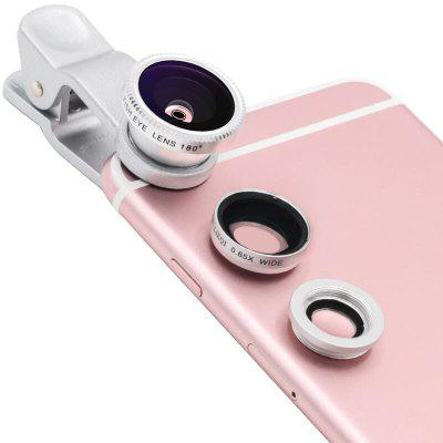 Universal 3 in 1 Wide Angle Macro Fisheye Mobile Phone Lenses Kit with Clip Fish Eye LensPhone Lenses<br>Universal 3 in 1 Wide Angle Macro Fisheye Mobile Phone Lenses Kit with Clip Fish Eye Lens<br><br>Accessories type: Lens<br>Colors: Silver,Black,Red,Blue,Gold<br>Package Contents: 2 x lens cover, 1 x Clips, 1 x macro lens, 1 x fish eye lens, 1 x wid angle lens, 1 x bags<br>Package size (L x W x H): 9.50 x 3.50 x 15.50 cm / 3.74 x 1.38 x 6.1 inches<br>Package weight: 0.0350 kg