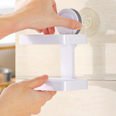 Suction Cup Wall Drain Drain European Soap Tray Creative Hole-Free Toilet Large Double Shelves