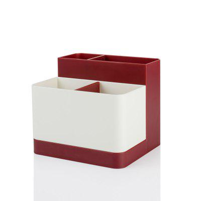 Buy Removable Partition Desktop Student Stationery Storage Box RED for $7.94 in GearBest store