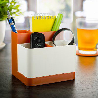 Buy Removable Partition Desktop Student Stationery Storage Box ORANGE for $7.94 in GearBest store