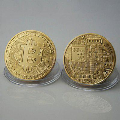 Bitcoin Memorial Circular Collector Coin collector yijie сандалии