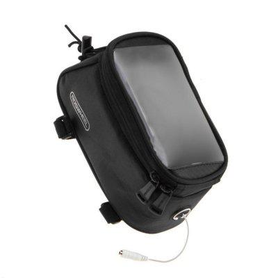 Roswheel 4.8 inch Bike Front Bag  -  M  BLACKBike Bags<br>Roswheel 4.8 inch Bike Front Bag  -  M  BLACK<br><br>Brand: Roswheel<br>Material: PVC, Polyester<br>Package Contents: 1 x Bike Phone Saddle Bag, 1 x Cable<br>Package Dimension: 24.00 x 13.00 x 10.50 cm / 9.45 x 5.12 x 4.13 inches<br>Package weight: 0.2010 kg<br>Product Dimension: 23.00 x 12.00 x 10.00 cm / 9.06 x 4.72 x 3.94 inches<br>Product weight: 0.1600 kg<br>Suitable for: Touring Bicycle, Road Bike, Mountain Bicycle