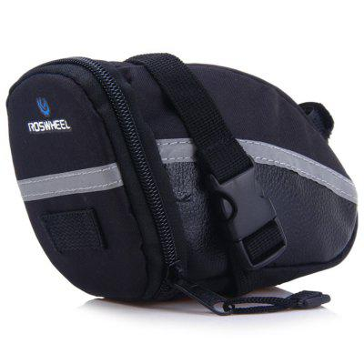 ROSWHEEL 13196 Bicycle Saddle Bag for Outdoor Cycling  -  BLACK