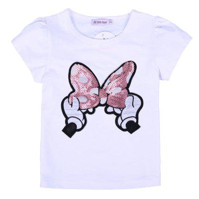 Kids Girls Clothing Set 2PCS Sequined Bow T-shirt + SkirtGirls clothing sets<br>Kids Girls Clothing Set 2PCS Sequined Bow T-shirt + Skirt<br><br>Collar: Round Neck<br>Elasticity: Elastic<br>Fabric Type: Worsted<br>Material: Cotton<br>Package Contents: 1 x T-shirt , 1 x Skirt<br>Pattern Type: Character<br>Shirt Length: Regular<br>Sleeve Length: Short<br>Style: Fashion<br>Weight: 0.1600kg