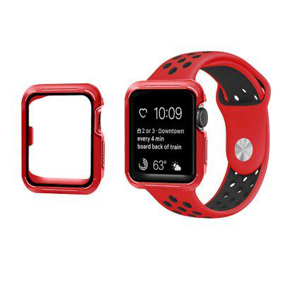 Soft Silicone Wrist Band e Frame para iWatch Series 1/2/3 38mm Proteção Covers Sport Case