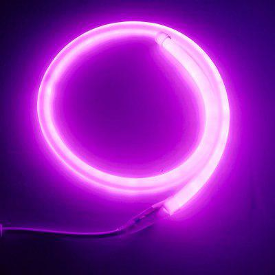 1PC 1M 9W 120LEDS Waterproof Circular Led Neon Tube Led Sign Board Tube Flexible Strip With Power CordLED Strips<br>1PC 1M 9W 120LEDS Waterproof Circular Led Neon Tube Led Sign Board Tube Flexible Strip With Power Cord<br><br>Beam Angle: 360 degree<br>Bulb Included: Yes<br>Color Temperature or Wavelength: 5500 - 6500K(White) ;  2700 - 3500KK(Warm White)?700 - 635nm (Red); 650 - 490nm (Green); 490 - 440 nm( Blue)?360-380 nm?Pink?<br>Features: Festival Lighting<br>LED Quantity: 120<br>Length ( m ): 1<br>Light color: Warm White, Green, Blue, Red, White, Pink<br>Light Source: Energy Saving,LED Light,Neon Bulbs<br>Light Source Color: Pink,White,Red,Blue,Green,Warm White<br>Package Content: 1 x LED Neon Tube , 1 x Power Cord<br>Package size (L x W x H): 26.50 x 24.50 x 3.00 cm / 10.43 x 9.65 x 1.18 inches<br>Package weight: 0.2690 kg<br>Power Supply: 220V<br>Product size (L x W x H): 152.50 x 1.40 x 1.40 cm / 60.04 x 0.55 x 0.55 inches<br>Product weight: 0.2580 kg<br>Type: Flexible LED Light Strips, Light Sets<br>Voltage: 220V<br>Waterproof Rate: IP65<br>Wattage (W): 9<br>Width( mm ): 14mm