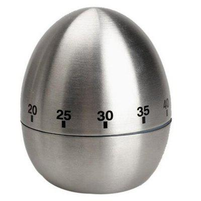 Mechanical Egg Shape Kitchen Cooking Timer Countdown 60 Minutes Alarm Stainless Steel  Timer