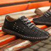 Men Shoes Fashion Business Leisure Casual Soft Cross Summer Loafers British Sneakers - BLACK