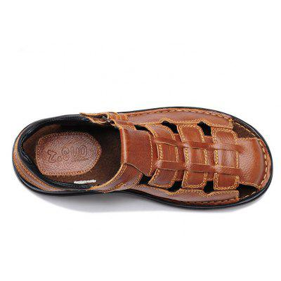 Men Shoes Fashion Sandals Leisure Casual Summer Foothold Beach Slip on ShoesMens Sandals<br>Men Shoes Fashion Sandals Leisure Casual Summer Foothold Beach Slip on Shoes<br><br>Available Size: 39-48<br>Closure Type: Buckle Strap<br>Embellishment: None<br>Gender: For Men<br>Heel Hight: 1-2CM<br>Occasion: Casual<br>Outsole Material: Rubber<br>Package Contents: 1?Shoes(pair)<br>Pattern Type: Solid<br>Sandals Style: Gladiator<br>Shoe Width: Medium(B/M)<br>Style: Rome<br>Technology: Sewing<br>Upper Material: Full Grain Leather<br>Weight: 1.2000kg