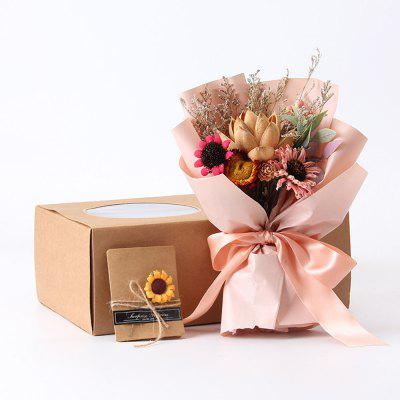 Vintage Bouquet Gift Box Gift Home Soft Dried Flowers