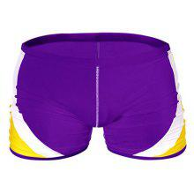 Fashion Men's Trunk Rapid Splice Square Solid Jammer Shorts Jammers Swim Suit