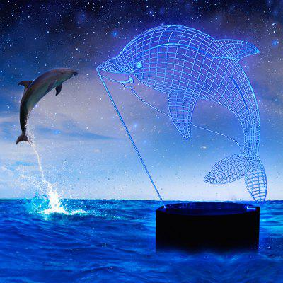 3D Dolphin Design LED Table Lamp with USB Cable Night Lights For Children Kids GiftsLED Bi-pin Lights<br>3D Dolphin Design LED Table Lamp with USB Cable Night Lights For Children Kids Gifts<br><br>Feature: Rechargeable<br>Light Source Color: Pink,White,Red,Blue,Green,Yellow<br>Package Content: 1 x Lamp, 1 x USB Cable<br>Package Size ( L x W x H ): 10.00 x 5.00 x 5.00 cm / 3.94 x 1.97 x 1.97 inches<br>Package weight: 0.3000 kg<br>Product Size(L x W x H): 9.00 x 4.00 x 4.00 cm / 3.54 x 1.57 x 1.57 inches<br>Product weight: 0.2500 kg<br>Type: Cartoon<br>Voltage (V): 4.5V