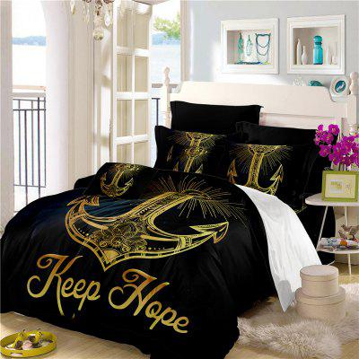 Sea Island Sacred Anchor 3D Series Bedding Three and Four Pieces Set AS27