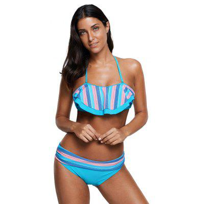 Blue Pink Striped Accent Ruffle Trim Bikini SetWomens Swimwear<br>Blue Pink Striped Accent Ruffle Trim Bikini Set<br><br>Bra Style: Push Up<br>Elasticity: Elastic<br>Gender: For Women<br>Material: Polyester<br>Package Contents: 1xBra,1xBriefs<br>Pattern Type: Striped<br>Support Type: Wire Free<br>Swimwear Type: Tankini<br>Waist: Low Waisted<br>Weight: 0.2000kg<br>With Pad: Yes