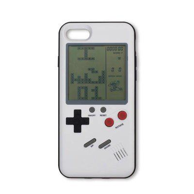 Real Working Classic Games Digital Screen TPU Protector Anti-shock Retro Game Console Style Case for iPhone 7 / iPhone 8