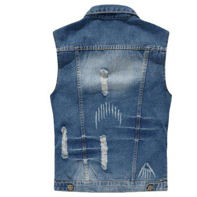 Mens Denim  Fashion Style Hole Design Washed  Frayed VestMens Jackets &amp; Coats<br>Mens Denim  Fashion Style Hole Design Washed  Frayed Vest<br><br>Clothes Type: Jackets<br>Collar: Turn-down Collar<br>Material: Cotton Blends<br>Package Contents: 1 xCowboy Vest<br>Season: Spring, Summer, Fall<br>Shirt Length: Regular<br>Sleeve Length: Sleeveless<br>Style: Casual<br>Weight: 0.5000kg
