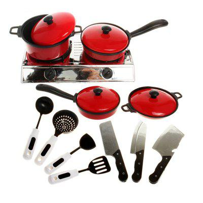 Cooking Pretend Play Kitchen Toy Set for Kids 13PCS