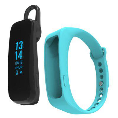 Bluetooth Smart Wristband With/ Bluetooth Headset Call Reminder/ Sports Track Pedometer Bracelet