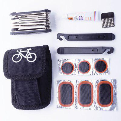 LEADBIKE 16 in 1 Multifunction Bicycle Multi Repair Tool Kit Cycling Wrench Screwdriver Tool Bike Tools SetsMultitools<br>LEADBIKE 16 in 1 Multifunction Bicycle Multi Repair Tool Kit Cycling Wrench Screwdriver Tool Bike Tools Sets<br><br>For: Cycling<br>Package Contents: 1 x 16 in 1 Repair Tool, 2 x Tire Iron, 6 x Tire Patch, 1 x Glue, 1 x Tyre Rubbing Sheet<br>Package size (L x W x H): 14.50 x 8.50 x 4.00 cm / 5.71 x 3.35 x 1.57 inches<br>Package weight: 0.2900 kg<br>Type: Multitools