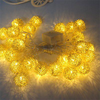 decorative string lighting. Modren String Metallic Iron Metal Ball Decorative String Lights To Lighting T