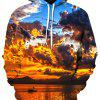 3D Digital Colorful Cloud Printed Hoodie - FLORAL