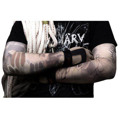 Buy Army Fans Camouflage Ice Silk Sun Protection Outdoor Riding Fishing Arm Sun Protection Long Sleeves PYTHON WALL SNAKE MUD L for $14.35 in GearBest store