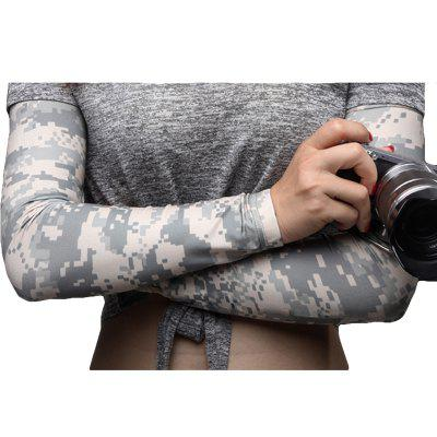 Buy Army Fans Camouflage Ice Silk Sun Protection Outdoor Riding Fishing Arm Sun Protection Long Sleeves DIGITAL CAMOUFLAGE L for $14.35 in GearBest store