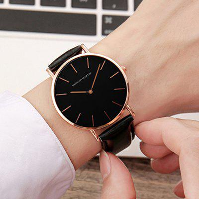 Hannah Martin Trendy Business Casual Unisex Thin Band WatchUnisex Watches<br>Hannah Martin Trendy Business Casual Unisex Thin Band Watch<br><br>Available Color: Black,Brown<br>Band material: Leather<br>Case material: Alloy<br>Clasp type: Pin buckle<br>Display type: Analog<br>Movement type: Quartz watch<br>Package Contents: 1 x Quartz Watch<br>Package size (L x W x H): 15.00 x 5.00 x 5.00 cm / 5.91 x 1.97 x 1.97 inches<br>Package weight: 0.0500 kg<br>People: Unisex table<br>Product size (L x W x H): 23.00 x 4.00 x 0.07 cm / 9.06 x 1.57 x 0.03 inches<br>Product weight: 0.0380 kg<br>Shape of the dial: Round<br>Special features: IP plating<br>Watch style: Casual, Fashion, Business