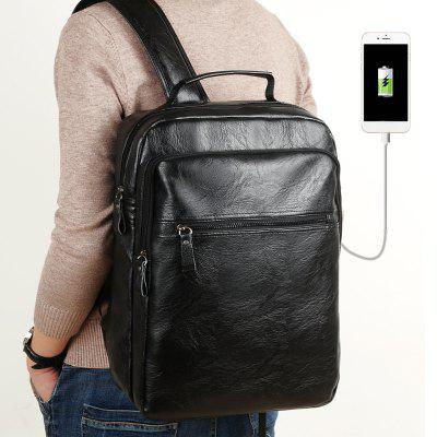 Men PU Leather Laptop Waterproof Casual Travel Large Capacity School Backpack with USBBackpacks<br>Men PU Leather Laptop Waterproof Casual Travel Large Capacity School Backpack with USB<br><br>Backpack Capacity: 10~20L<br>Color: Black<br>For: Climbing<br>Material: PU Leather<br>Package Contents: 1 x Bag<br>Package size (L x W x H): 10.50 x 30.50 x 41.50 cm / 4.13 x 12.01 x 16.34 inches<br>Package weight: 0.5500 kg<br>Product size (L x W x H): 10.00 x 30.00 x 41.00 cm / 3.94 x 11.81 x 16.14 inches<br>Product weight: 0.5000 kg<br>Type: Backpack