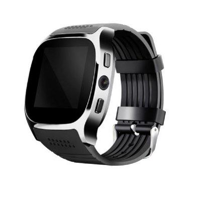 T8 Bluetooth Smart Watch Smart Watch With Camera Facebook Whatsapp Support SIM TF Card Call Smartwatch For AndroidSmart Watches<br>T8 Bluetooth Smart Watch Smart Watch With Camera Facebook Whatsapp Support SIM TF Card Call Smartwatch For Android<br><br>Anti-lost: Yes<br>Band material: Silicone<br>Battery  Capacity: 300mah<br>Bluetooth: 3.0<br>Bluetooth calling: Answering,Dialing,Phone call reminder,Caller ID dispay<br>Bluetooth distance: W/O obstacles 10m - 15m<br>Bluetooth Version: Bluetooth 3.0<br>Camera:: 0.3MP<br>Case material: Resin<br>Compatible OS: Android<br>CPU: 6261D/260MHz<br>Health tracker: Pedometer,Sleep monitor,Drinking reminder<br>Language: English,French,Spanish,Portuguese,Russian,Italian,Dutch,Malay, Support multi-language<br>Memory: 32MB+32MB<br>Notification: Yes<br>Notification type: WhatsApp<br>Operating mode: Touch Screen<br>Package Contents: 1*smart watch<br>Package size (L x W x H): 8.00 x 8.00 x 6.00 cm / 3.15 x 3.15 x 2.36 inches<br>Package weight: 0.1000 kg<br>People: Male table,Female table<br>Product weight: 0.0450 kg<br>Remote control function: Remote Camera<br>Screen resolution: 240 x 240<br>Screen size: 1.54 inch<br>Shape of the dial: Rectangle<br>SIM Slot: Support 2G GSM?850/900/1800/1900