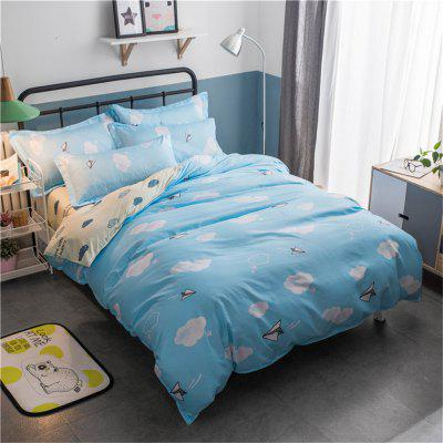 Cotton Four Pieces Bedding Sets Active Printing