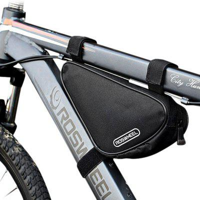 Roswheel 12657 1.5L Outdoor Triangle Cycling Bicycle Front Tube Frame BagBike Bags<br>Roswheel 12657 1.5L Outdoor Triangle Cycling Bicycle Front Tube Frame Bag<br><br>Brand: Roswheel<br>Material: Polyester<br>Model Number: 12657<br>Package Contents: 1 x Roswheel 12657 Bicycle Front Tube Triangle Bag<br>Package Dimension: 28.00 x 13.00 x 3.00 cm / 11.02 x 5.12 x 1.18 inches<br>Package weight: 0.1220 kg<br>Product Dimension: 27.00 x 12.00 x 6.00 cm / 10.63 x 4.72 x 2.36 inches<br>Product weight: 0.0970 kg<br>Suitable for: Mountain Bicycle, Road Bike, Touring Bicycle