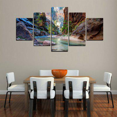 MailingArt FIV233  5 Panels Landscape Wall Art Painting Home Decor Canvas PrintPrints<br>MailingArt FIV233  5 Panels Landscape Wall Art Painting Home Decor Canvas Print<br><br>Craft: Print<br>Form: Five Panels<br>Material: Canvas<br>Package Contents: 5 x Print<br>Package size (L x W x H): 82.00 x 32.00 x 12.00 cm / 32.28 x 12.6 x 4.72 inches<br>Package weight: 1.8000 kg<br>Painting: Include Inner Frame<br>Shape: Horizontal Panoramic<br>Style: Natural<br>Subjects: Landscape<br>Suitable Space: Living Room,Bedroom,Dining Room,Office,Hotel,Cafes,Kids Room,Kitchen,Hallway,Kids Room,Study Room / Office