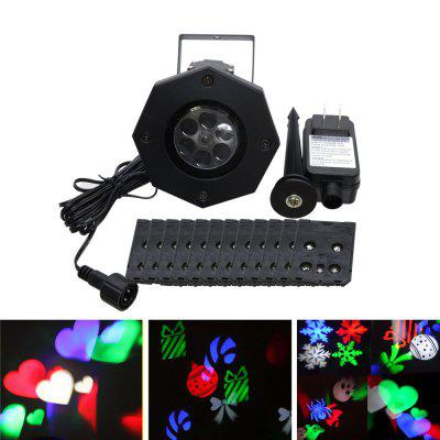 Buy BLACK YWXLight LED Projection Lights Snowflake Christmas Light Outdoor Lighting AC 100 240V for $24.81 in GearBest store