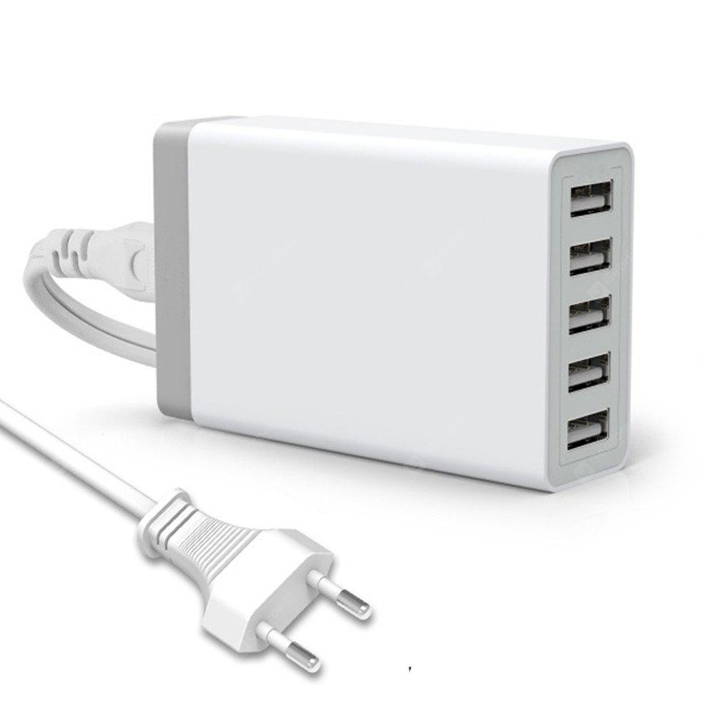 """5 Ports Intelligent AC Power Adapter 40W 8A USB Wall Charger For Cellphone Tablet Travel Multi Port Home EU Plug"""