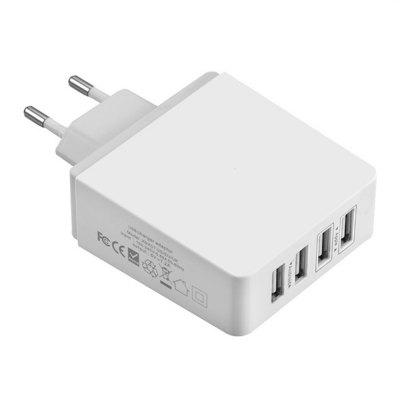 4 Ports Intelligent AC Power Adapter 30W 7.2A USB Wall Charger for Phone EU Plug