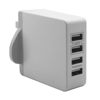4 Ports Intelligent AC Power Adapter 30W 7.2A...