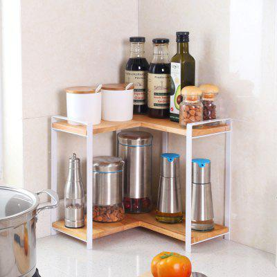 2 Tier Right Angle Wooden Spice Rack Free Standing Home Storage ShelfStorage Holders &amp; Racks<br>2 Tier Right Angle Wooden Spice Rack Free Standing Home Storage Shelf<br><br>Functions: Home, Living Room, Dining Room, Kitchen<br>Materials: Metal, Alloy, Wood<br>Package Contents: 1 x Shelf, 1 x Set of Accessories<br>Package Size(L x W x H): 36.50 x 34.50 x 8.00 cm / 14.37 x 13.58 x 3.15 inches<br>Package weight: 2.0000 kg<br>Product Size(L x W x H): 30.00 x 30.00 x 31.00 cm / 11.81 x 11.81 x 12.2 inches<br>Product weight: 1.6300 kg<br>Types: Storage Holders and Racks