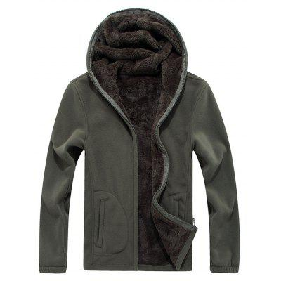 New Autumn and Winter Slim Hooded Cardigan Cashmere Coat